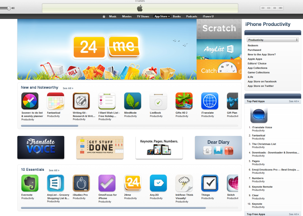 24me featured by Apple on the U.S. Appstore